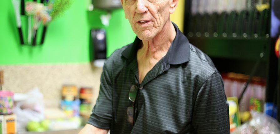 elderly man working