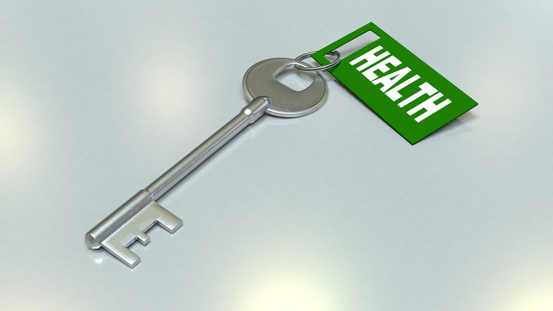 key with health tag