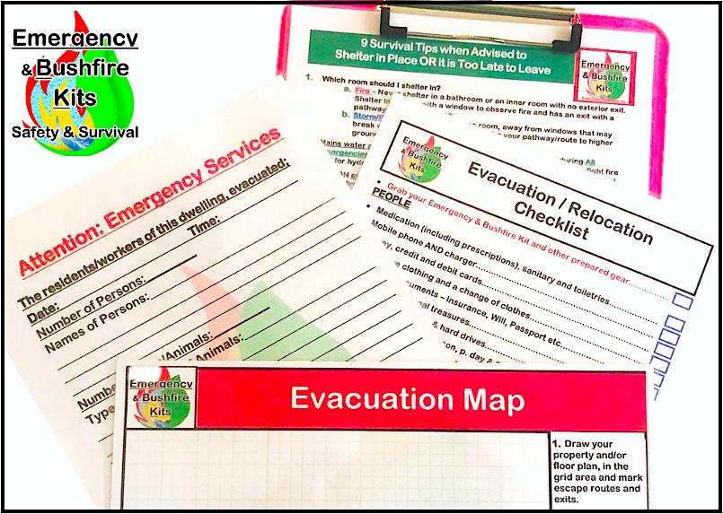 evacuation checklists and notices